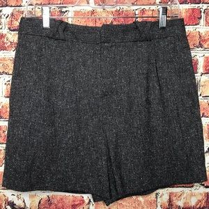 French Connection High Waisted Black Tweed Shorts